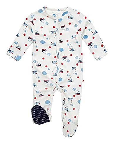 Piccalilly Steam Train Sleepsuit 0-3 month