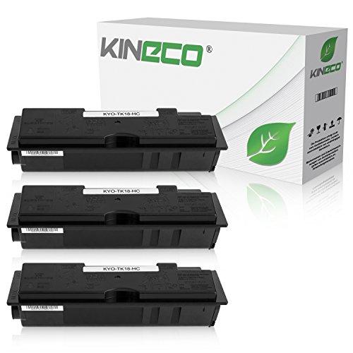 Preisvergleich Produktbild 3 Toner kompatibel zu Kyocera TK18 FS-1020 D DN DT DTN N 1018 1118 F FDP MFP - 370QB0KX - Schwarz je 7.200 Seiten