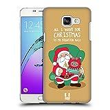 Head Case Designs Weihnachts-Wunsch Wilbur Die Katze All Star Weinachten Ruckseite Hülle für Samsung Galaxy A5 (2016)