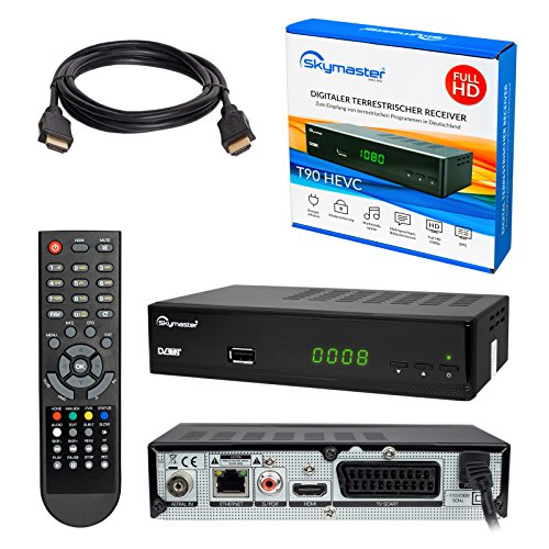Juego HB DIGITAL DVB-T/T2: Opticum T90 hevc Receptor DVB-T/T2 (Full HD,...