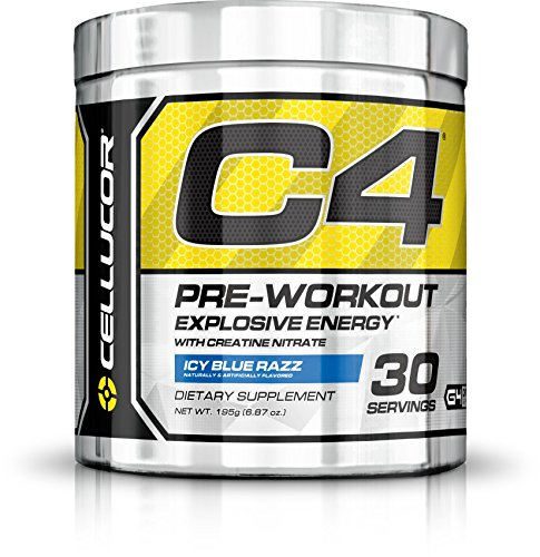 Cellucor C4 Pre Workout Powder with Creatine, G4, Icy Blue Razz 30 Servings (195g)