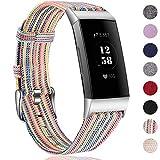 HUMENN Bracelet pour Fitbit Charge 3 Tissé Bande, Remplacement Tissé Bandes de Tissu Accessoires...