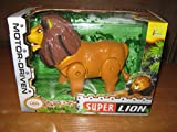 #9: Battery Operated Toy Lion for Kids. Lion can Walk, Open & Close Mouth, Tail can Swing, Toy has Light & Sound.