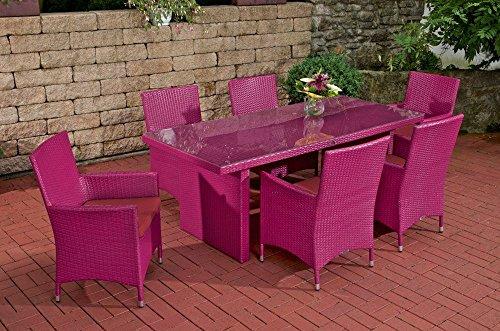 Sitzgruppe Avignon, rubin-rot / pink