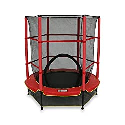 We R Sports - Children's trampoline with safety net, My First Trampoline, red