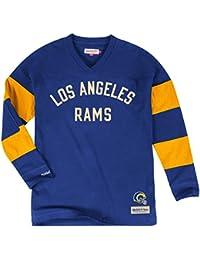 "Los Angeles Rams Mitchell & Ness NFL ""Field Goal"" Men's Heavyweight L/S Shirt Chemise"