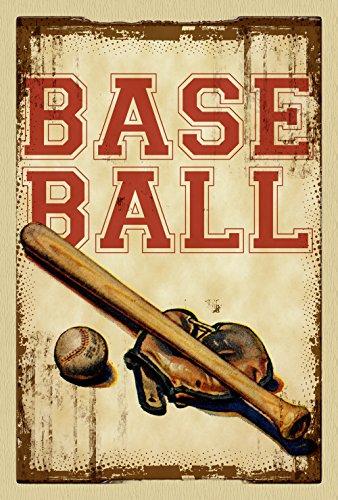 "Toland Home Garden Vintage Baseball Deko usa-produced Flagge, Textil, House-L-28 x 40"""