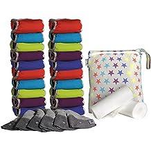 Close Parent 25796 - Pack de 20 pañales de tela en colores fuertes, con interior de bambú