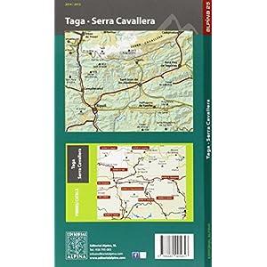 Taga, Sierra Cavallera mapa excursionista. Escala 1:25.000. Alpina Editorial.