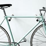 Designer Fahrrad Wandhalterung - BIKE HOOKS - versch. Sticks zu Auswahl, mit Metall- oder Farbfronten, aus Eiche oder Nussbaum, hochwertige Verarbeitung - Möbelstück zur Wandmontage des Fahrrads (Schwarz)