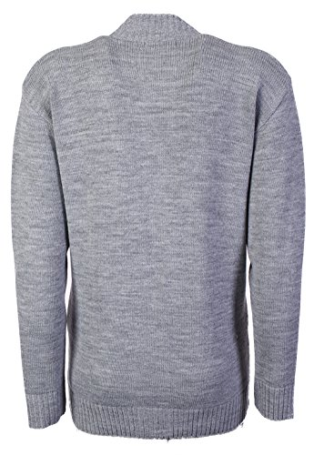 New Classic - Cardigan da donna, taglie 38-48a maglia, a maniche lunghe stile Aran Gray