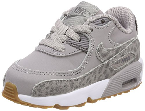 Nike Mädchen Air Max 90 SE Leather (TD) Gymnastikschuhe, Grau (Atmosphere Grey/Gunsmoke/White 004), 22 EU (Nike Kleinkinder Mädchen Schuhe)