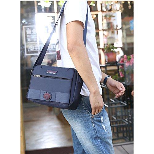 Outreo Schultertasche Herren Messenger Bag Vintage Umhängetasche Retro Kuriertasche Sport Taschen Schule Herrentaschen für Tablet Blau
