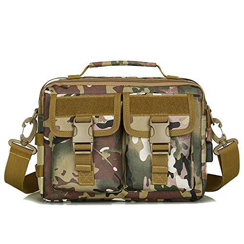TnXan Outdoor Military Canvas Backpack Camping Bag small Rucksack Casual daypacks Hiking Men's and Women's Tactical Shoulder Camouflage Military travel Commuter Handbag