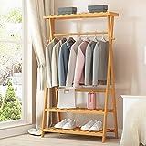 LOFTfan kleiderständer garderobe Multifunktionale Garderobe Haushalt hängen Kleiderregal Schlafzimmer Lagerregale einfache Racks Boden garderobe hutablage (größe : 100cm)