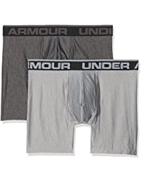 Under Armour O Series 6'' Boxerjock 2 Pk Boxers, Hombre, Gris (Carbon Heather), XL