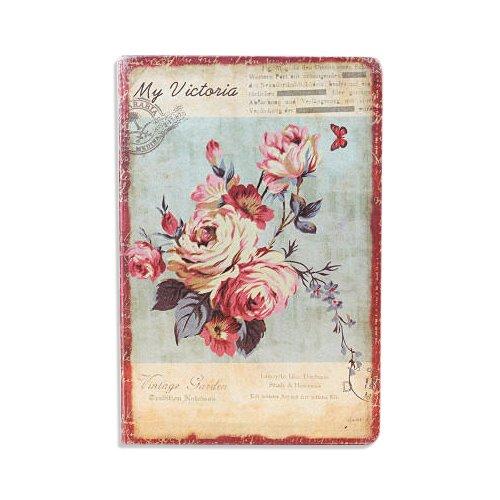 Gebunden Tuch Notebook (Jia HU A5Retro Flower Notizbuch mit Lesezeichen Tagebuch Notizblock 96sheets/192pages Pink Rose)
