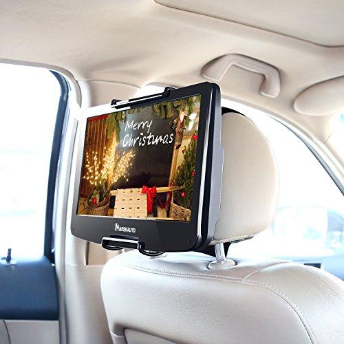 Kopfstütze Zoll 10 Dvd Player Auto (NAVISKAUTO 10-12,5 Zoll Auto KFZ Kopfstützenhalterung Kopfstütze Halterung Gehäuse für Tragbarer DVD Player Spieler Kopfstützenmonitor Monitor HM004)