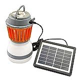 Lamptti Portable Mosquito Zapper Lampe Lanterne de Camping à énergie Solaire Recharge USB Lampe Rechargeable Anti-moustiques (avec Panneau Solaire + câble USB)