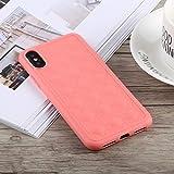 Schütze Dein iPhone, TOTUDESIGN Deo Series Stoßfestes TPU + PU-Gehäuse für iPhone X/XS Für iPhone Handy. (Farbe : Rosa)