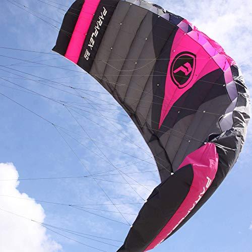 Wolkenstürmer Paraflex Quad 5.0, 4-Leiner Action Lenkmatte - Hochwertiger Kite mit Bar