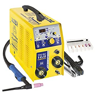 GYS 168 DC HF 168A TIG Welder-Supplied Ready to Weld with Accessories, 230 V, Yellow