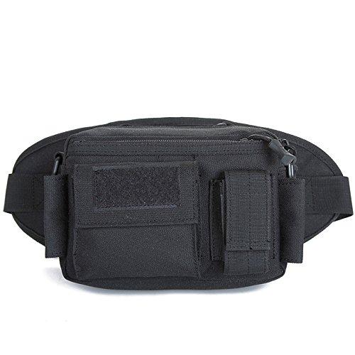 Zll/Esercito ventilatore outdoor tattico tasca sul petto da corsa in impermeabile tempo libero borsa a tracolla da viaggio staccabile tattico marsupio, wolf brown nero