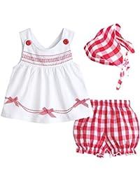 ACVIP Vêtement Eté Enfant Bébé Fille 3 Pièces Ensembles Robe + ... 51e16af189b