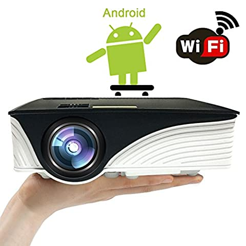 Android Projector, SEGURO P3B 1500 Lumens LED Mini Video Projector,