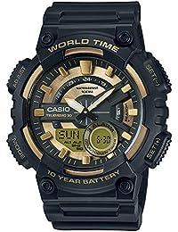 Casio Collection – Reloj Hombre Analógico/Digital con Correa de Resina – AEQ-110BW-9AVEF