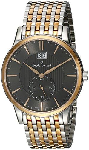 Claude Bernard Men's 64005 357RM GIR Classic Gents Analog Display Swiss Quartz Two Tone Watch
