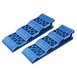 Jumbo Auffahrkeile Stufenkeile Blau für Wohnwagen & Wohnmobil, 2,5 Tonnen pro Achse