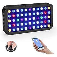 Roleadro WiFi LED Aquarium Light 165 W - Lámpara para acuario Panel para peces tropicales con plantas, Espectro de luz de 6 bandas, 400 x 212 x 60 mm
