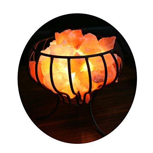 "Biova Salzkristall - Leuchte Salzlampe ""Feuerkorb"""