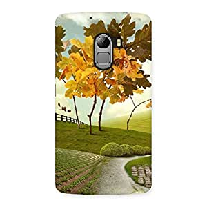 Stylish Printed Way Back Case Cover for Lenovo K4 Note
