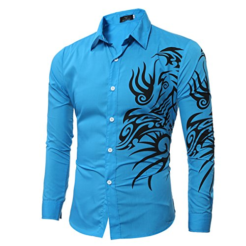 YL - Chemise casual - Homme Bleu