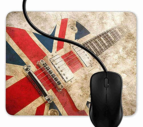 Mauspad Brit Pop Rock Gitarre Rutschfeste Gummi Basis Mouse pad, Gaming mauspad für Laptop, Computer 1F2603