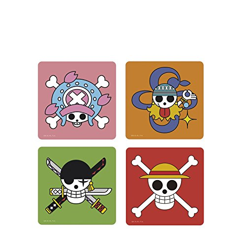 One Piece - Untersetzer 4er Set - Skulls Logo