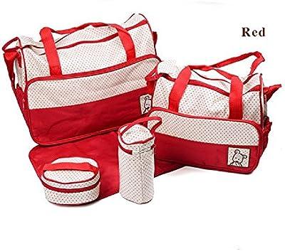 URAQT - Bolsa de Mama para Bebé Biberón Bolso/Bolsa/Bolsillo Maternal Bebé para Carro Carrito Biberón Colchoneta Comida Pañal con Gran Capacidad