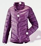 Hochwertige Daunensteppjacke Ultra leicht und besonders Wärmend /High Quality Down Quilted Jacket Gr S (Passform Normal) Dark Viloet