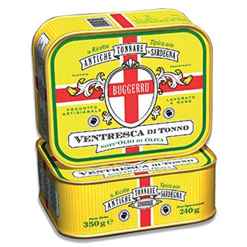 """Tonno rosso del mediterraneo in latta""""Ventresca di tonno"""" artigianale 350gr in olio di oliva"""