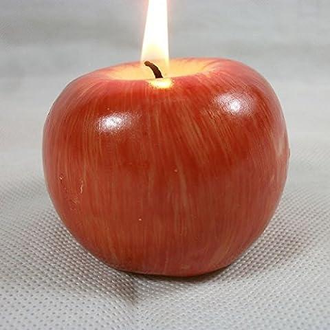 Xjoel forma candele frutta Nuovo Natale Red Apple cattivo odore Salute Casa Paulina