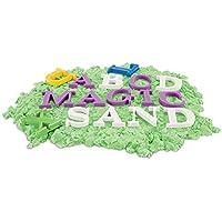 TOYMYTOY Letras Moldes arena de playa - Aprender inglés Playa de arena Pit Toys para niños - 26 piezas alfabeto en mayúscula