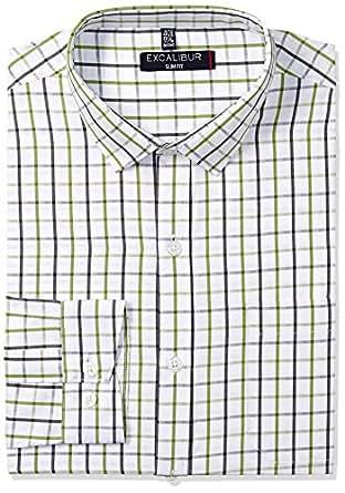 Excalibur Men's Formal Shirt (8907542387205_270667420_40_Green)