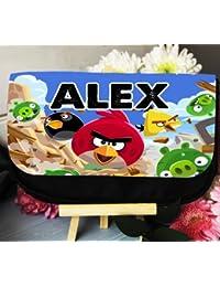 Angry Birds Estuche personalizado caso, maquillaje, cosméticos, artículos de tocador, gaming, bolsa de viaje boda Favor