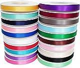 TtS 3mm/6mm/10mm/15mm/25mm/38mm Satin Ribbon Reel Wide Double Faced Satin Ribbon Roll Quality Ribbon Crafts