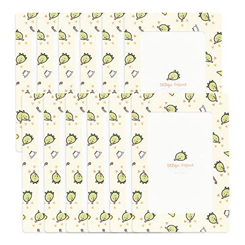 Monolike Design Frames Kids-Party Dino 12Blatt, Passt 10,2x 15,2cm Bilder