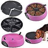 ZYPDCW Hundenapf 6 Tage Futterautomat 6 Mahlzeiten - Katze oder Hund Holoday Auto Dispencer Bowl mit Voice Recorder