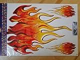 3 Flammen Flames Aufkleber ROT/ORANGE Oracal selbstklebend Auto Tribal Tatoo