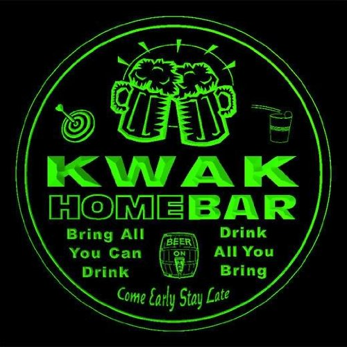 4x-ccq24834-g-kwak-family-name-home-bar-pub-beer-club-gift-3d-coasters